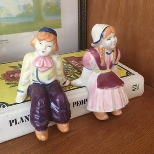 Vintage Dutch Girl and Boy Figurines